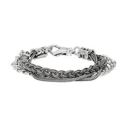 Emanuele Bicocchi Silver Chain Braided Bracelet RLCB