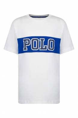 Белая футболка с надписью Polo Ralph Lauren Kids 2669134053
