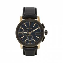Gucci Black and Gold G-Chrono Watch YA101203