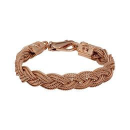 Emanuele Bicocchi SSENSE Exclusive Rose Gold Flat Braided Bracelet FKB07K