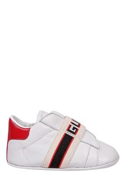 Белые кроссовки с отделкой Gucci 470134340