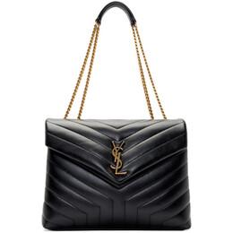 Saint Laurent Black Medium Loulou Bag 574946 DV727