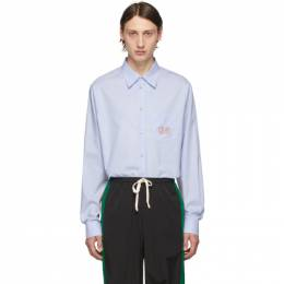 Gucci Blue GG Oxford Shirt 574518 ZABY4