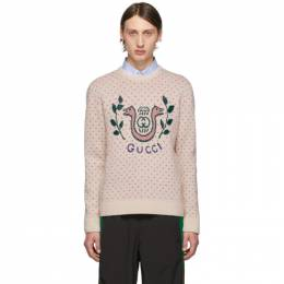 Gucci Off-White Wool Harp Sweater 577406 XKAU9