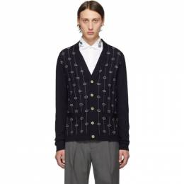 Gucci Blue Interlocking G Stripe Cardigan 576901 XKAUM