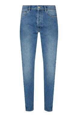 Голубые джинсы с потертостями Balenciaga Man 2673135905