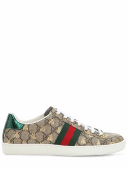 "Кроссовки ""new Ace Gg Supreme"" Из Канвас 20мм Gucci 69II9H030-ODQ2NQ2"