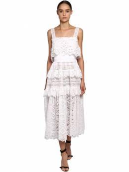 Платье Из Хлопка И Кружева Elie Saab 69I0LV009-UE9QTElO0