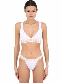 Верх Бикини Из Джерси Versace 69I0FW025-QTEwMDE1