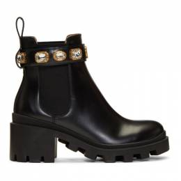 Gucci Black GG Crystal Boots 550036 DKS00