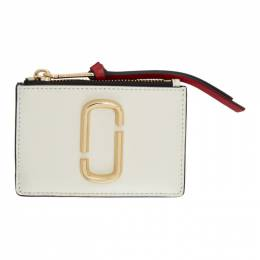 Marc Jacobs Off-White Snapshot Top Zip Multi Card Holder M0013359