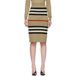 Burberry Beige Merino Kwando Icon Skirt 8015918