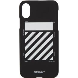 Off-White Black Diagonal iPhone XS Max Case 192607F03200301GB