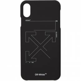 Off-White Black and White Unfinished iPhone XS Max Case 192607F03200101GB