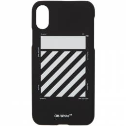 Off-White Black and White Diagonal iPhone X Case 192607M15300301GB