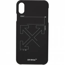 Off-White Black and White Unfinished iPhone X Case 192607M15300101GB