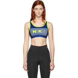Nike Blue Classic Sports Bra 192011F07302201GB