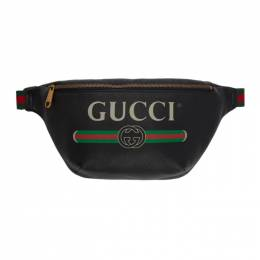 Gucci Black Medium Logo Belt Bag 530412 0GCCT