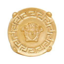 Versace Gold Round Medusa Greek Ring DG54712 DMT1