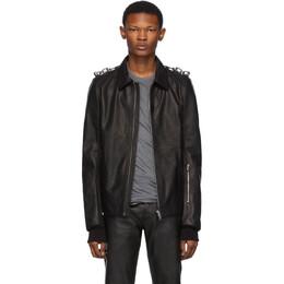 Rick Owens Black Leather Rotterdam Jacket RU19F4746 LCWEC3