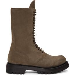 Rick Owens Brown Army Boots RU19F4855 LVS