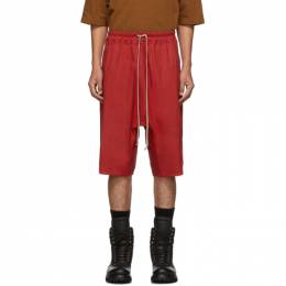 Rick Owens Red Basket Swinger Shorts RU19F4383 TE