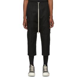 Rick Owens Black Drawstring Cargo Pants RU19F4385 TE