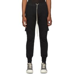 Rick Owens Black Jogger Cargo Trousers RU19F4396 BA