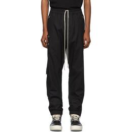 Rick Owens Black Poplin Track Pants RU19F4388 TEEC2