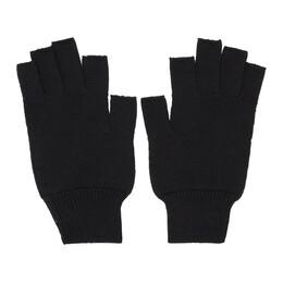Rick Owens Black Merinois Fingerless Gloves RU19F4485 M