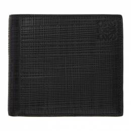Loewe Black Linen Bifold Wallet 101.88.302