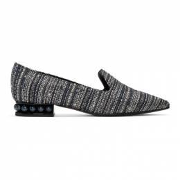 Nicholas Kirkwood Blue Tweed Casati Loafers 902A17TTM5