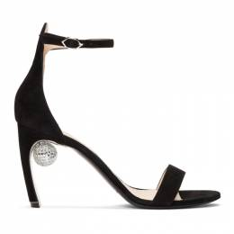 Nicholas Kirkwood Black Suede Maeva Sandals 909A01SLS1