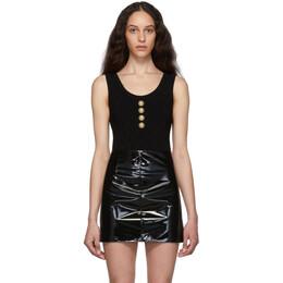 Balmain Black Knit Buttoned Bodysuit SF10930K462