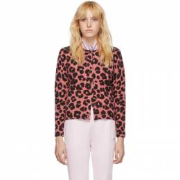 Marc Jacobs Pink and Black Wool Printed Cardigan M4007937