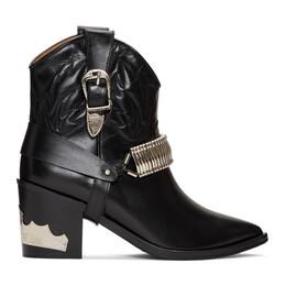 Toga Pulla Black Western Detail Boots FTGPWJ72009005