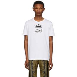 Dolce&Gabbana White King T-Shirt G8JX7Z G7SOQ