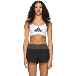 Adidas Originals White All Me Badge of Sport Sports Bra 192751F07300601GB