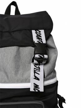 Рюкзак Из Нейлона С Принтом Логотипа Stella McCartney Kids 70I6SI026-MTQ2NA2