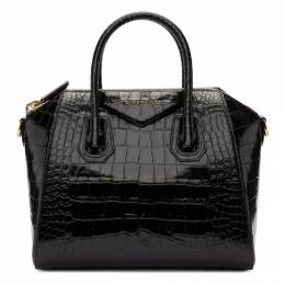 Givenchy Black Croc Small Antigona Bag BB500CB0LK