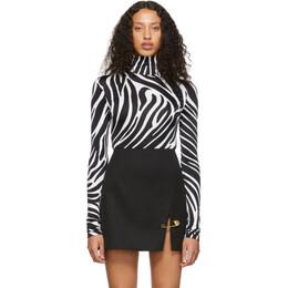 Versace Black and White Zebra Bodysuit A83763A231104