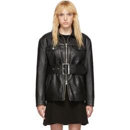 Opening Ceremony Black Faux-Leather Belted Jacket P19ADZ11158