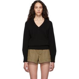 Chloe Black Cashmere Iconic V-Neck Sweater CHC19AMP73500