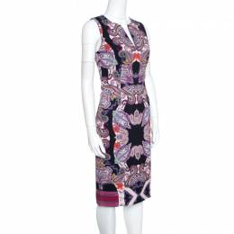 Etro Multicolor Paisley Printed Sleeveless Midi Dress S 155890