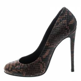 Giuseppe Zanotti Design Brown Python Leather Pumps Size 38 155937