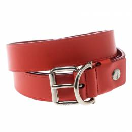 Salvatore Ferragamo Dark Orange Leather Belt 115cm 152607