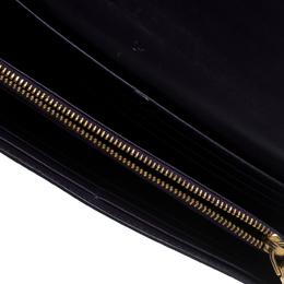 Miu Miu Purple Patent Leather Continental Wallet 153204