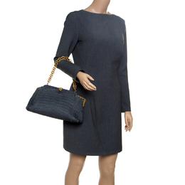 Bottega Veneta Grey Crocodile Vendome Shoulder Bag 151657