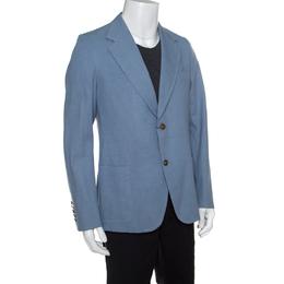 Gucci Sky Blue Cotton Tailored Mayfair Blazer XXL 151281