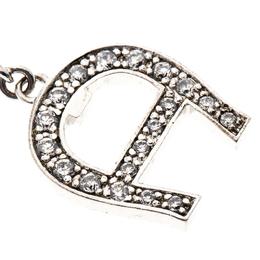 Aigner Crystal Beaded Silver Tone Bracelet 149684